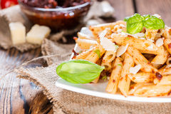 Penne with Tomato Pesto Stock Photography