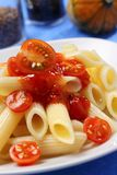 Penne with tomato sauce Royalty Free Stock Photo