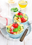 Penne with tomato sauce Stock Photography