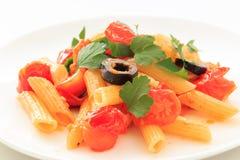 Penne Tomato sauce Stock Photos