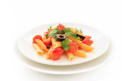 Penne Tomato sauce Stock Images