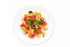 Penne Tomato sauce Royalty Free Stock Photos