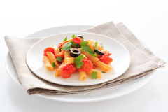 Penne Tomato sauce Royalty Free Stock Photography