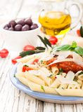 Penne with tomatoes Royalty Free Stock Image