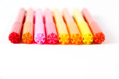 Penne variopinte Fotografia Stock