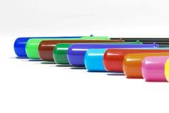 Penne variopinte isolate Fotografia Stock