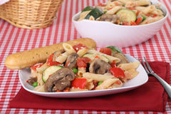 Penne Vegetable Bake Royalty Free Stock Photography