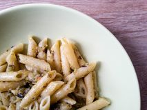 Penne with zucchini Stock Photo