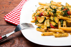 Penne with zucchini Royalty Free Stock Image