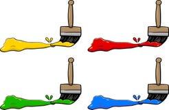 Pennelli con i colori illustrazione di stock