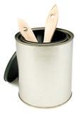 Pennelli in latta della vernice Fotografie Stock Libere da Diritti