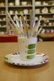 Pennelli in un vaso Fotografia Stock