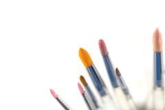 Pennelli variopinti dell'acquerello Immagine Stock