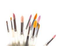 Pennelli variopinti dell'acquerello Fotografia Stock