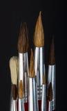 Pennelli variopinti, rifornimenti di scuola Fotografia Stock