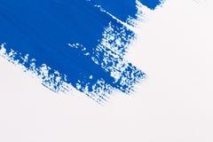 Pennello blu del colpo Fotografia Stock