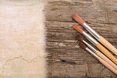 Pennello di arte Fotografia Stock Libera da Diritti