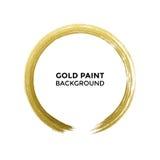 Pennello di struttura di scintillio del cerchio dell'oro sul fondo di bianco di vettore illustrazione di stock