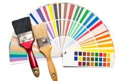 Pennello due sulla guida di colore fotografia stock