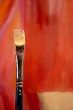 Pennello e tela di canapa Fotografia Stock Libera da Diritti