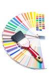Pennello sulla guida di colore immagine stock