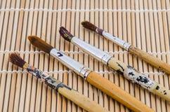 Pennello utilizzato o pennello sporco Fotografia Stock Libera da Diritti
