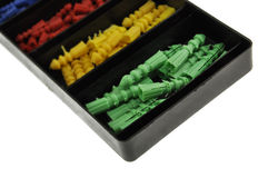 Pennen in doos Royalty-vrije Stock Afbeelding