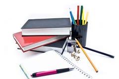 Pennen en boeken Royalty-vrije Stock Foto