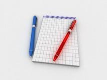 Pennen en nota's Royalty-vrije Stock Foto