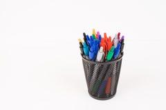Pennen in Moderne Kop Stock Afbeelding