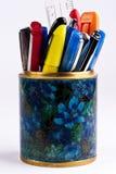 Pennen in tribune Royalty-vrije Stock Afbeeldingen