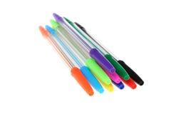 Pennen van verschillende kleuren Stock Afbeelding