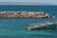 Penneshaw Ferry Terminal jetty on Kangaroo Island in South Austr. View of Penneshaw Ferry Terminal jetty on Kangaroo Island in South Australia Stock Images