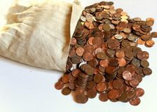 Pennies Royalty Free Stock Photos