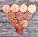 pennies Stockbild