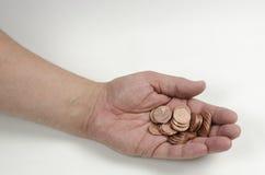 pennies Stockfoto