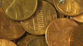 Pennies, Coins, Money, Currency stock footage