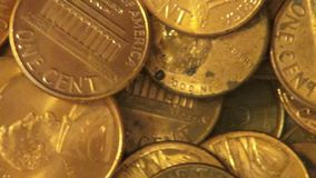 Pennies, Coins, Money, Currency stock video
