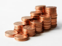 Pennies II Stock Photos