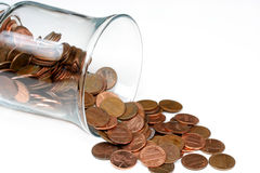 Pennies and Jar Royalty Free Stock Photo