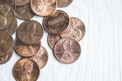 Pennies Stock Image