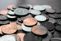 Pennies, Nickels & Dimes Close Up High Quality. Stock Photo stock photo