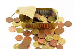 Pennies saved Royalty Free Stock Photo