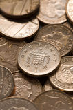 Pennies sterling full frame Stock Image
