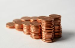 Pennies V Royalty Free Stock Images