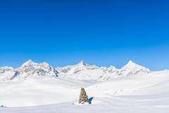 Pennine Alps on the Italian-Swiss border Stock Photography