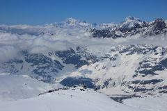 The Pennine Alps, Switzerland & Italy. Royalty Free Stock Images