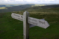 The Pennine Way (fingerpost) Royalty Free Stock Photography