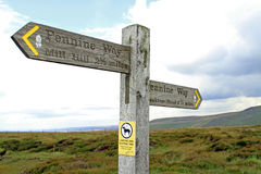 Pennine Way signpost Royalty Free Stock Image
