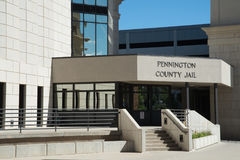 Pennington County arrest i den snabba staden South Dakota Arkivfoto